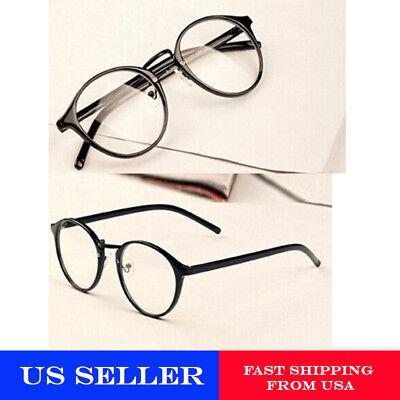 Unisex glasses frame Transparent Nerd Eyeglasses Clear Lens(Black and Brown)