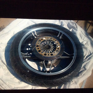 honda magna1984 front wheel with tire