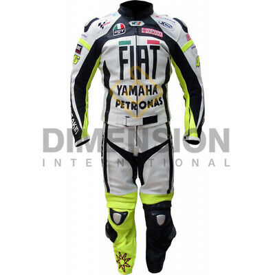 Valentino Rossi VR 46 Yamaha Fiat Motorcycle Leather Racing Moto GP Suit for sale  Shipping to United States