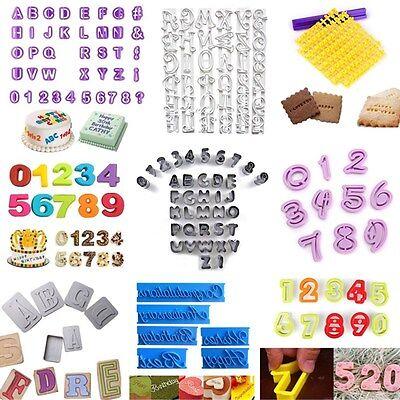 Alphabet Number Letter Cake Decorating Mould Fondant Cookie Modelling - Alphabet Cookie Cutters