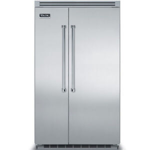"VIKING 42-48"" Side-by-Side Refrigerator/Freezer- Stainless Steel"