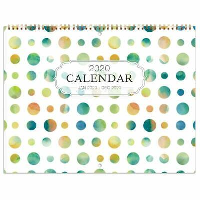 Calendar With Pockets (2020 Wall Calendar - Monthly Calendar with Inner Pocket and Pen Loop)
