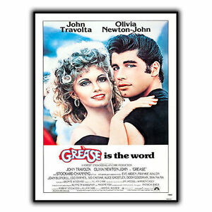 GRASA-ES-THE-WORD-LETRERO-METAL-PLACA-DE-PARED-Pelicula-Cine-Anuncio-poster