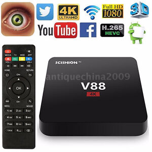 Fully-Loaded-4K-Android-6-0-Smart TV BOX Latest16.1 Quad Core 8G