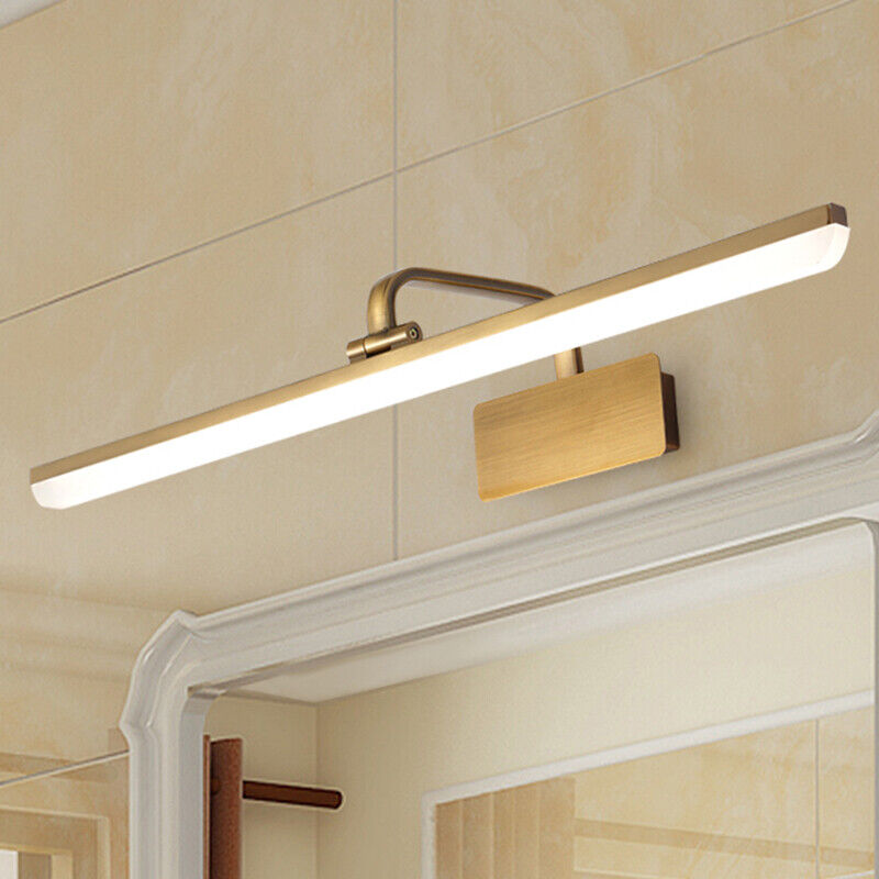 Modern 1 Light Acrylic Led Antique Br Gallery Gold Bathroom