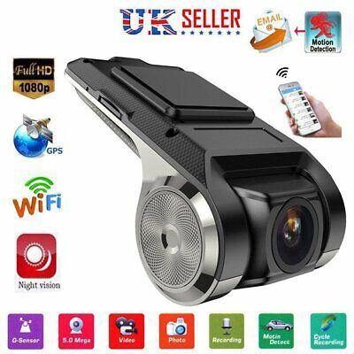 HD 1080P Dash Cam Car DVR Camera Recorder USB WiFi ADAS G-sensor Driving 150°