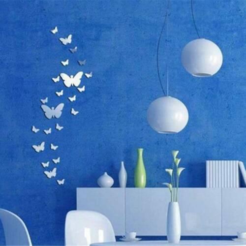 Butterflies Mirror Wall Stickers Art Decal Home Kids Room De