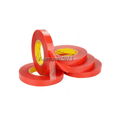 15mm10m Red Transparent Double Sided Tapes Super Adhesive Tape Sticky For Phone
