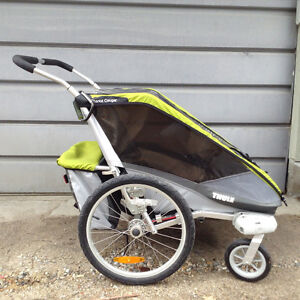 Thule chariot double cougar bike trailor and stroller