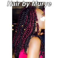Hair by Murye crochets Braids 35$-45$