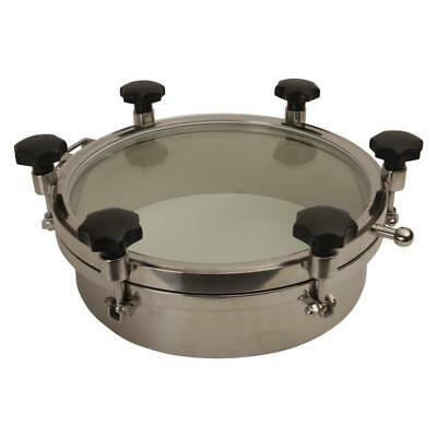Round Tank Manway 18 Inch Glass Top W 6 Handlesepdm - 3 Pack