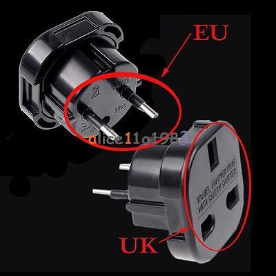 Travel UK to EU Euro AC Power Plug Charger Adapter Socket Converter Universal