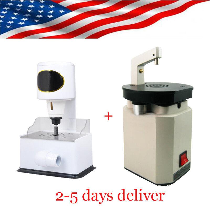 US Dental Grind Inner Model Arch Trimmer + Low Noise Laser Pindex Drill Machine