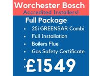 Worcester Bosch GOLD Accredited Installers/Boiler Installation,Repair&Service/Gas Safe Certificate