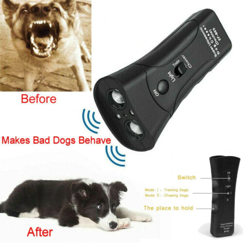 Ultrasonic BarxBuddy Dogs Training Repeller Control Device 3 in 1