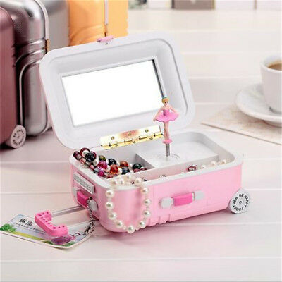 NEW Little Girl's First Musical Ballet Slippers Jewelry Box Ballerina Organizer - Little Girls Jewelry Boxes