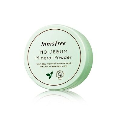 INNISFREE No Sebum Mineral Powder 5g =Natural originated Mint=