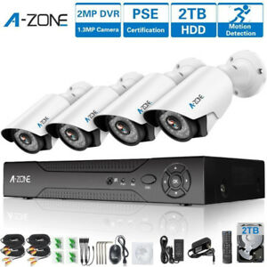 BRAND NEW CCTV Security Camera System 4 Channels 1080P HD Kit