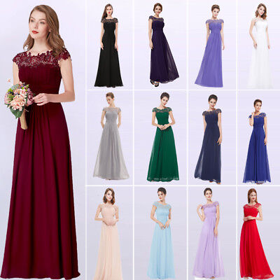 US Ever-Pretty Long Bridesmaid Dresses Maxi Party Lace Formal Evening Gown 09993 (1920s Womens Attire)