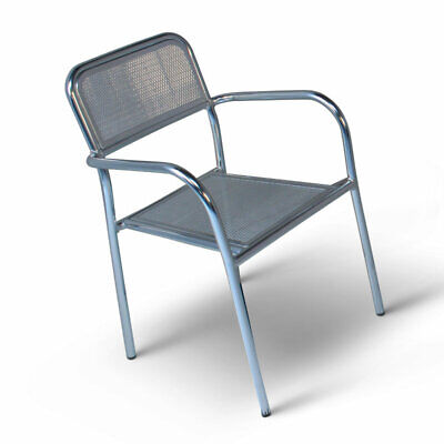 Aluminium Mesh Bistro Stacking Chair - Bars Cafe-Style Metal Chair For Outdoor