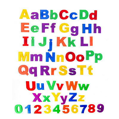Magnetic Letters Childrens Kids Alphabet Magnets In UPPER Case Learning Toy K3U4