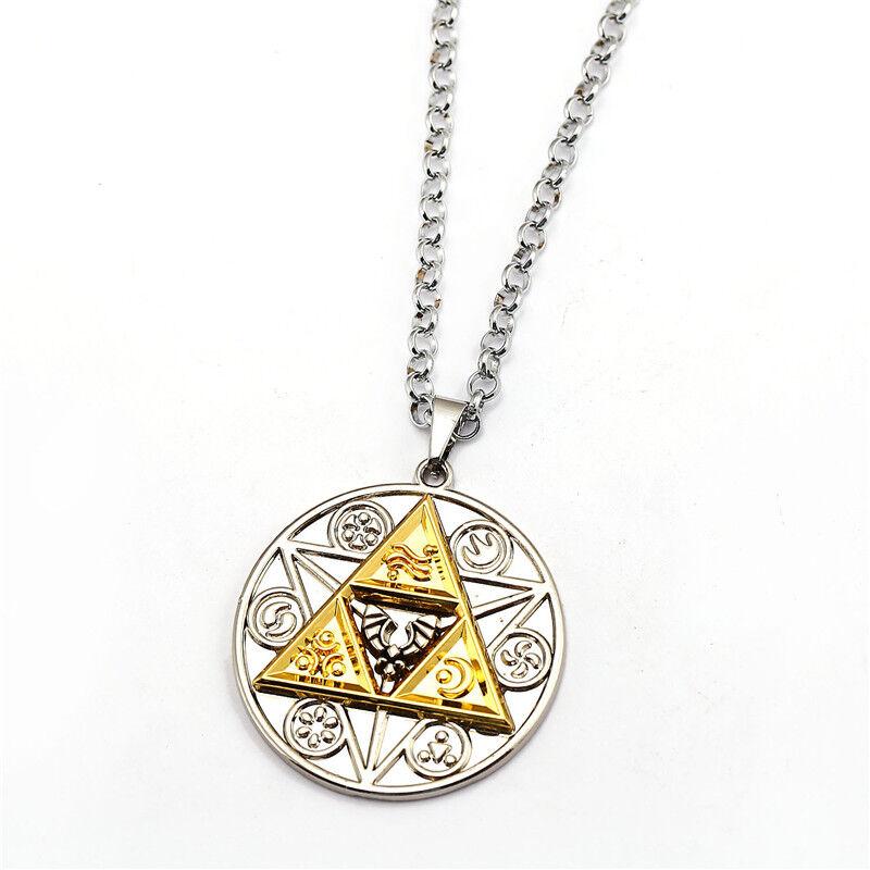 Hot Game The Legend of Zelda Link Metal Pendant Necklace Chain Cosplay