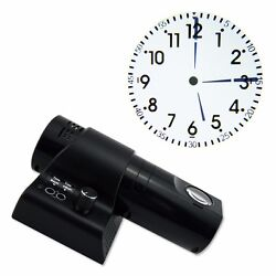 Wall Clock LED Analogue Projection Cold Light Beam Hotel Home Bedroom Deco USA