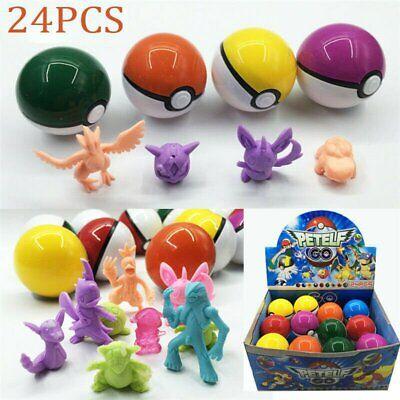 Boxed 8-24Pcs PokeBall Set Pokemon GO Action Figures Christmas Kids Toy Gift CA