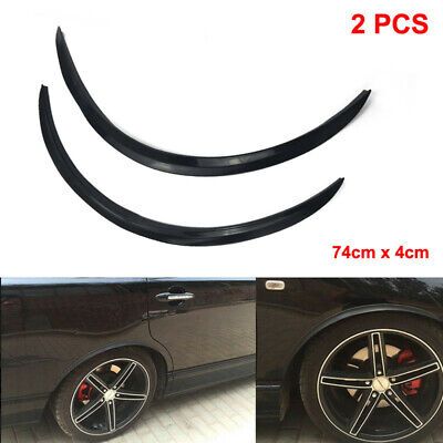 2PCS Car Fender Flare Extension Wheel Eyebrow Moulding Trim Wheel Arch Strip UK