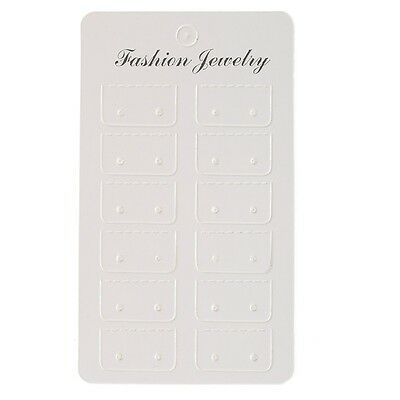 100pcs White Paper Earring Display Packing Cards Fit Jwewlry Diy Wholesale