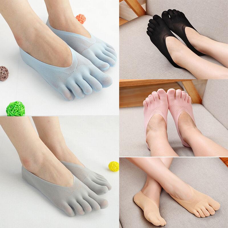 1/5 Pairs Women Five Finger Toe Hosiery Stockings Lady Low C