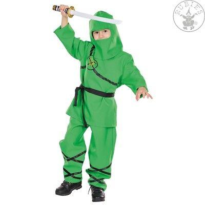 RUB 12346 Ninja grün Karneval Kostüm Kinder Kämpfer Schatten Krieger 104-152 ()