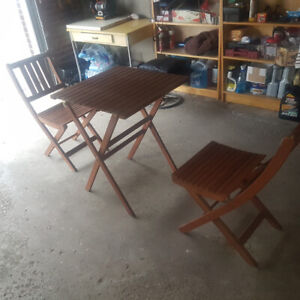 PATIO TABLE WITH 2 CHAIRS, WILL FIT TO BALCONY 647 740-8220