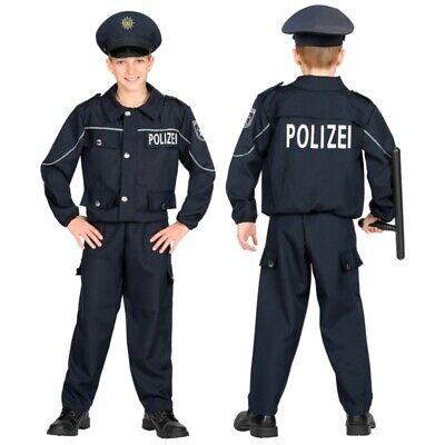 POLIZIST POLIZEI - Kinder Kostüm Deutsche Uniform 3-teilig - Kinder Polizei Uniform