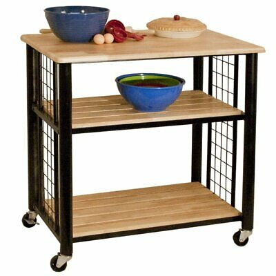 Catskill Craftsmen Kitchen Kitchen Cart - Catskill Craftsmen Contemporary Kitchen Cart in Black
