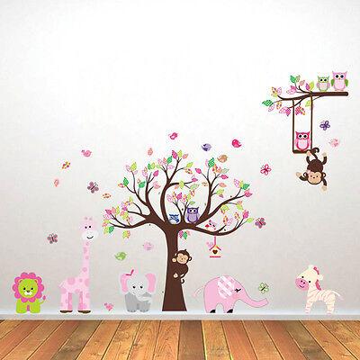 Wandtattoo Wandsticker Tiere Baum Affe Wandaufkleber Deko Kinderzimmer BabyXXL