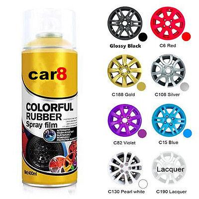 5 x 400ml Blue 1 x Glossifier Car Rubber Spray Wheel Rim Paint Best Plasti
