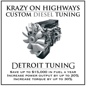 Krazy On Highways Custom Detroit EGR,DPF&SCR Delete Tuning