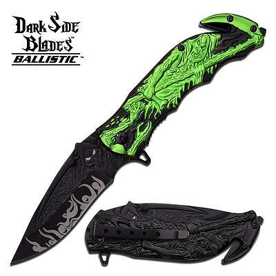 Dark Side Blades Grim Reaper Spring Assisted Folder Knife -
