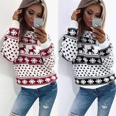 Women Men Retro Sweater Pullover Xmas Jumper Sweatshirt Coat Christmas US ()