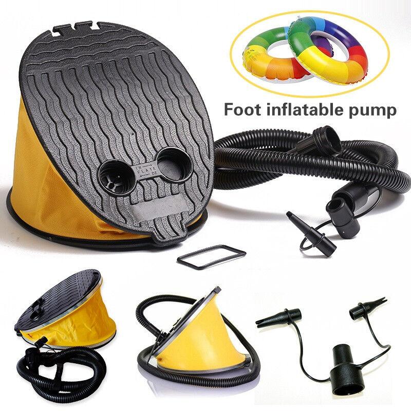 Motorbike Bike Car Tyre Foot Pump High Pressure Bicycle Fast Inflator Portable