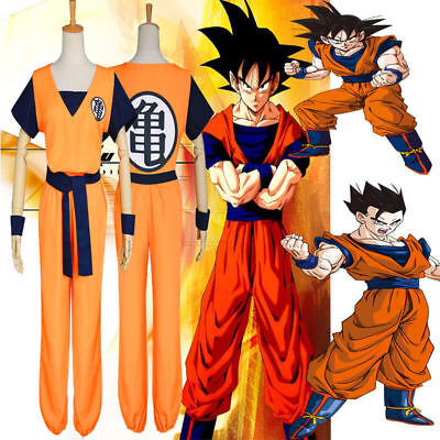 Adult Dragon Ball Z Son Goku COS Costume Cosplay Anime Suits Top/Pant/Belt/Wig - Goku Costume Adult