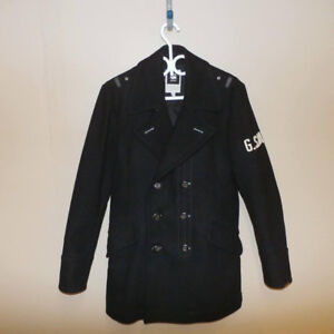 $600 [G-Star Raw] WOOL Trench Coat Jacket size M men's Like New!