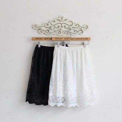 Women lace skirt extender Double Layers for lengthening skirts Petticoat (Lace Petticoat)