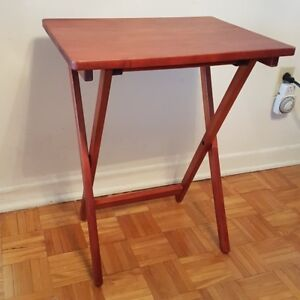Solid Wood Folding Snack Table.
