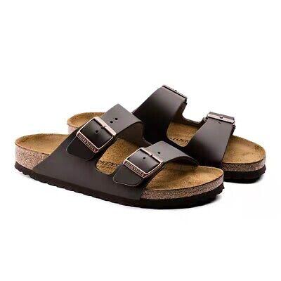 Birkenstock Arizona black strappy sandal made of Birko Flor Stone normal width