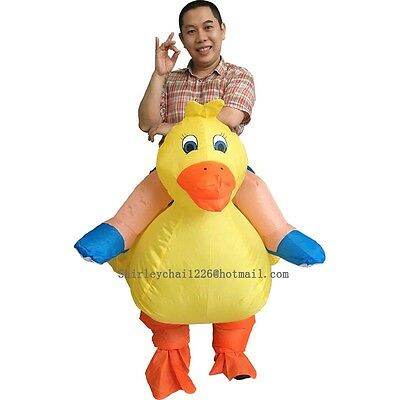 Halloween Inflatable Duck Costume for Adult Yellow Color Cosplay Costume For Men - Duck Halloween Costume For Adults
