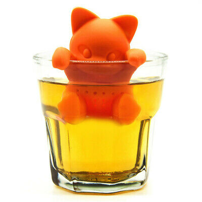 Silikon Teeei Katze Form Silikon Teeeier Lustig Gewürz-Ei Teesieb