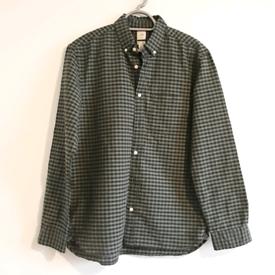 Brand new men's Khaki green cheks shirt