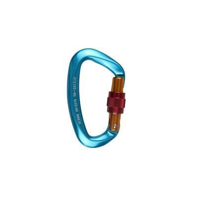 2 Colors 25KN Aluminum D-Ring Carabiner Clip Hook Heavy Duty Screw Lock Rock